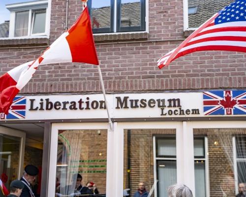 De gevel van ons museum